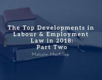 Top Developments in Employment Law in 2018, Part 2
