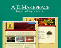 A.D. Makepeace Website and Print Design