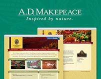 A.D. Makepeace Website and Print Design