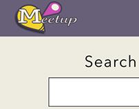 Meetup.com Conceptual Rebrand