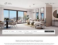 De Faria Properties Website