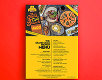 The Grand Ciclo brunch tent Card Design