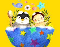 Baby Bath Illustration