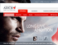 ADCB - Website design for Abu Dhabi's most popular bank