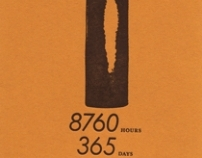 Typographic Calendar Cover (letterpress)