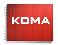 KOMA manual visual identity