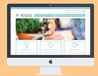 Ydeas website redesign