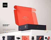 Mailing Box Mockup Set 4