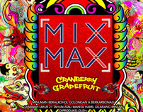 MIXMAX Cranberry Grapefruit label design