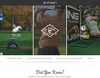 Joe & Leigh's Pine Oaks Golf Course homepage redesign