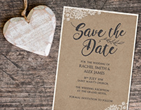 Rustic Wedding Stationary