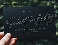 Sebastian Bobby - Authentic Handwritten Font