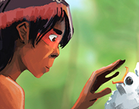 Taino boy finds sacred chick