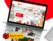 Biedronka.pl redesign concept
