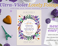 Ultra-Violet Lovely Foliage Invite III