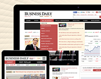 Business Daily Online News Portal Website