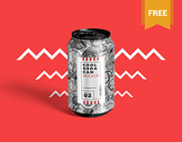 Free Tin Soda Can Mockup