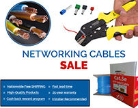 Email Template Design Network Cable Sale