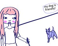 Comic, my dog is friendly, humor