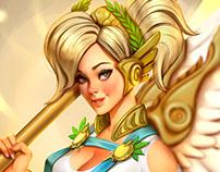 Mercy Summer Games Skin 2017 Fanart