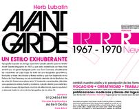 Especímen tipográfico + Tipografía experimental