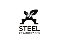 Logo project combining the words steel and organic farm