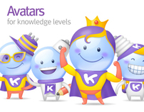 Charater design for Yahoo! TW & HK Knowledge