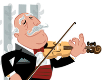 Violinist Vector Cartoon