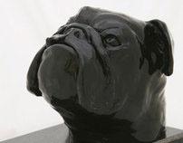 English Bulldog - sculpture