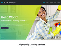 EliteMasters - Cleaning Services Page Concept