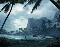 Missing beach Mattepainting