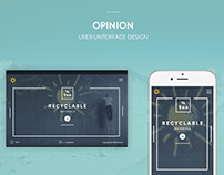 Opinion User Interface Design