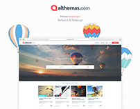 Althernas.com UI&UX Design