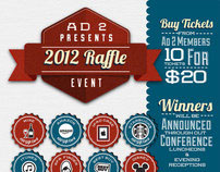 Ad 2 2012 Raffle Flyer and Poster