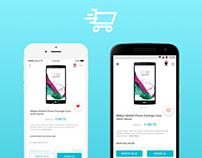 e-Commerce App UX/UI Design iOS/Android