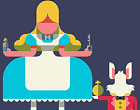 alice in wonderland -with a Drawing app-
