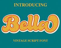 Bella - Vintage Script Font create by #fontself