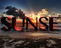 3D Sunset - Wallpaper (PS CS6)