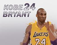 Kobe Bryant Paint Splatter