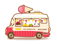 cartoon ice cream van