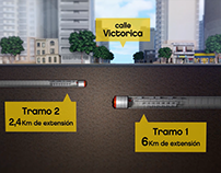 Visualización de obras Segundo Emisario del Arroyo Vega