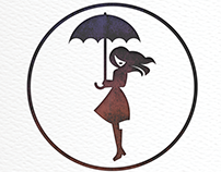 Brolly Girl Illustration