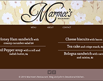 Responsive web design: Restaurant