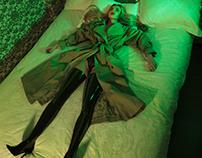 beauty in green room