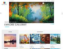 Gallerist Website Design