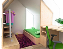 Teenage girl small room interiors