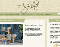 Aidjolate - Essai de Webdesign pour une galerie d'art