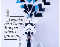 I want to be a Clone Trooper when I grow up