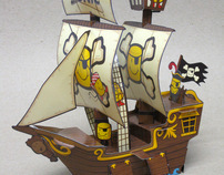 Sonic Paper Pirate Ship