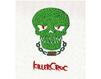 DANGEROUS FACE KILLER CROC EMBROIDERY DESIGN